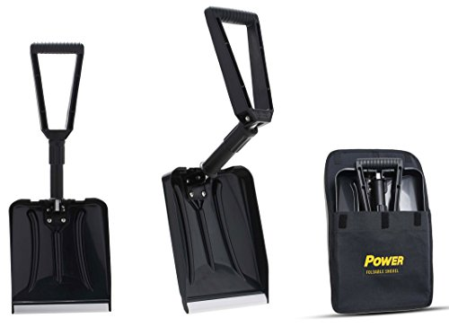Power Foldable Shovel – Completely Collapsible Form 26'' Overall Length 12.5'' Compact Length (Black Color) by Power Products USA