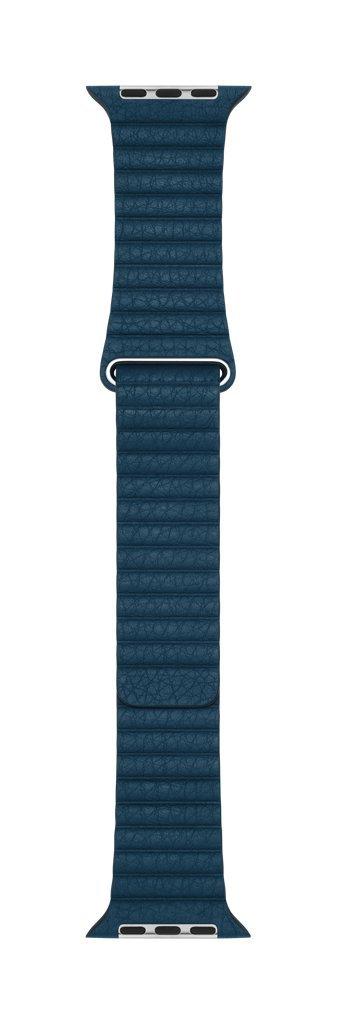 Apple 42mm Leather Loop - Medium Smartwatch Replacement Band for Watch Series 1, Watch Series 2, Watch Series 3 - Cosmos Blue
