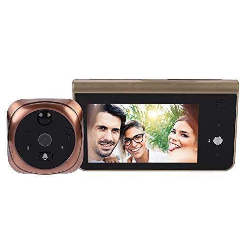 Smart Doorbell Digital Door Peephole Viewer with Intelligent Vision Door Camera Monitor Indoor Viewer 4.3 Inches Color Screen Motion Detection Two-Way Audio for Home Security