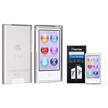 Insten Frost Clear White TPU Rubber Case with FREE Reusable Screen Protector compatible with Apple iPod nano 7th Generation