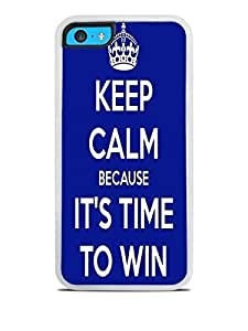 Keep Calm Win White Silicone Case for iPhone 5C