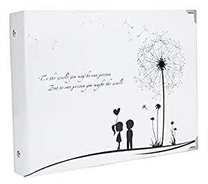 """SiCoHome Scrapbook Photo Album Anniversary Scrapbook DIY Photo Albums Vintage Style Recording Valentines Day Gifts Christmas Gift(10.5""""x7.5""""inner Ring Dandelion)"""