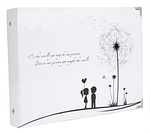 SiCoHome Scrapbook White Dandelion Album