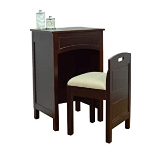 Lamont home cheswick vanity set espresso for Kitchen set 008 82