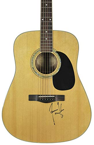 James Taylor Autographed Signed Mitchell Acoustic Guitar Autographed Signed Bas #H60048 - Certified - Taylor Memorabilia James
