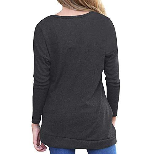 Pour shirt Couleur 6 Luk Avec Courtes Unie Femme Bord Manches T Et Lâche Cn Zhrui À couleur De Bouton Size 12 black BaPx5ORq