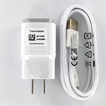OEM LG 1.8 Charger MCS-04WD with 2.0 5FT Micro USB for LG G2 Google Nexus G Flax L9 -