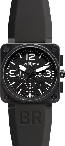 Bell-Ross-Mens-BR-01-94-CARBON-Aviation-Black-Chronograph-Dial-Watch-Watch