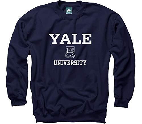 (Ivysport Yale University Crewneck Sweatshirt, Crest, Navy,)