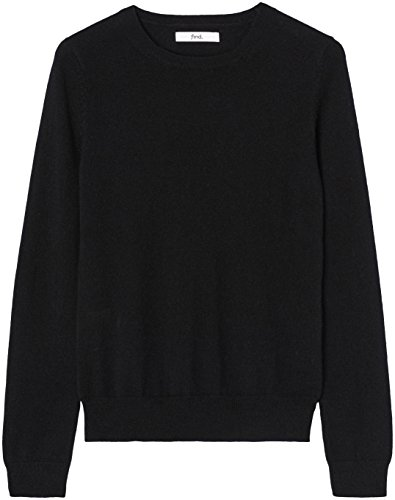 Jet du Ras 6018 Col T Black Noir Femme Gp Shirt Cou FIND Tq86UIZxT
