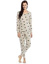 Women's Printed 2 Piece Pajama Set Top & Pants 100% Cotton (Size XS-XL)