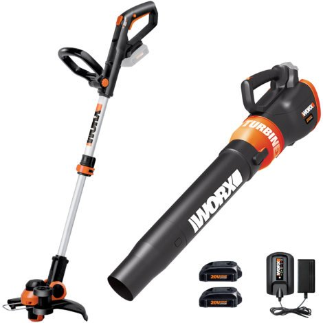 WORX. 20V GT 3.0 Trimmer & Turbine Blower Combo Kit
