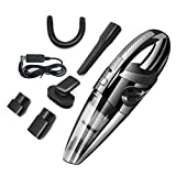 Wireless Handheld Rechargeable Car Vacuum Cleaner, 120W 3.2kpa Portable Stronger Cyclonic Suction for Home, Wet&Dry Use (Black)