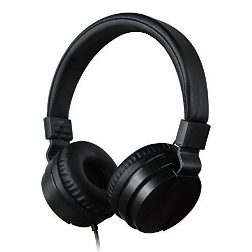 Homeself Stereo Headphones, Foldable Headphone for Kids or Adults, Compatible with iPhone, iPad, iPod, Samsung, HTC, Mp3, PC (Black)