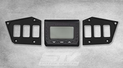 Fox Switch - STV Motorsports Custom BLACK Aluminum Dash Panel for POLARIS RZR XP FOX EDITION with GPS DISPLAY – MADE 100% in USA (no switches included)