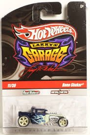 Mattel HOT WHEELS LARRY'S GARAGE BLUE/WHITE FIRE BONE SHA...