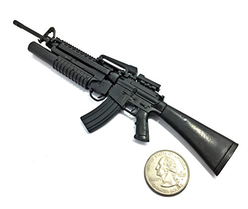 Rifle Grenade Launcher - 4D 1/6 Scale M16A4 Assault Rifle US Army w/Grenade Launcher Miniature Toys Gun Model Fit For 12