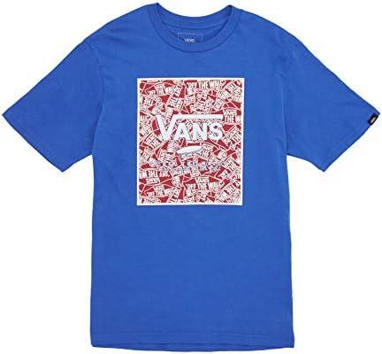 28de7f135a Vans Print Box Youth Boys Short Sleeve T-Shirt Small Royal Blue ...