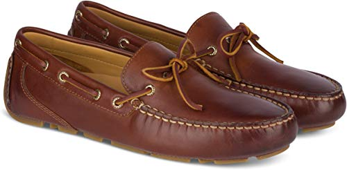 SPERRY Men's Gold Cup Harpswell 1-Eye Driver Casual Shoe, Tan - 11 M (Sperry Bay Gold)