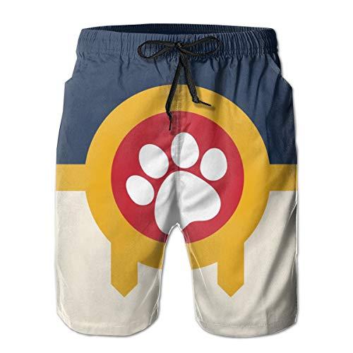RZM YLY Tulsa Flag Paw Mens Swim Trunks Quick Dry Beach Board Shorts]()