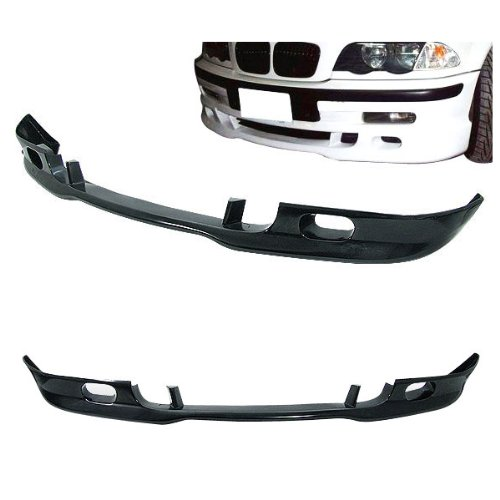 99-04 BMW E46 325 328 2/4 Door A-Style Add-On Front Bumper Lip Urethane ()