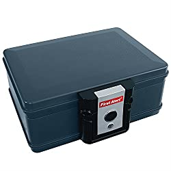 5. First Alert 2013F Water and Fire Protector File Chest, 0.17 Cubic Feet