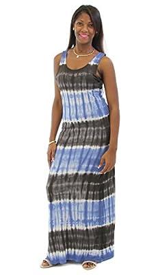 PINK ROSE Juniors Tie-Dye-Print Maxi Dress