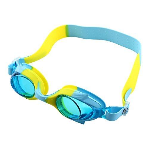DealMux de silicone réglable Ceinture Clear Vision contre la brouillard de natation Lunettes Lunettes de natation w Boîte de stockage pour les muchachos jeunes filles