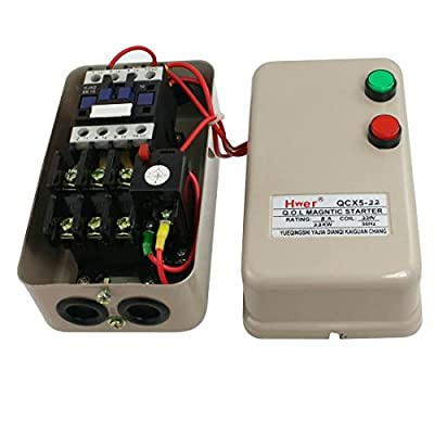 Baomain Magnetic Starter QCX5-22 AC 220V 3.2-5A 3HP 2.2KW 3 Phase
