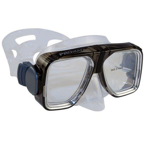 BiFocal Gauge Reading Scuba Dive Snorkeling Mask Prescription Lenses, Black, +2.0 Bifocal
