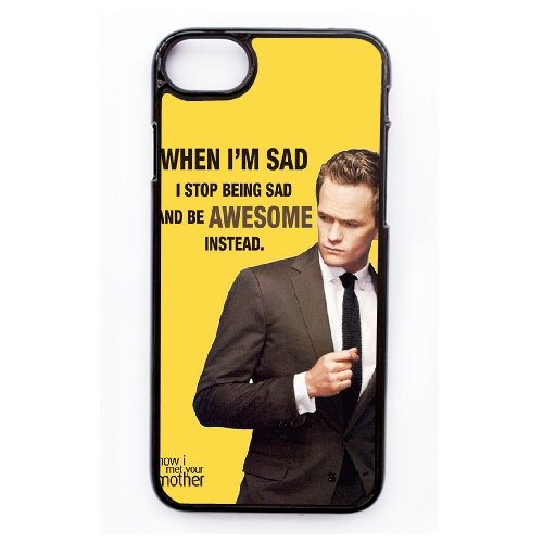 Coque,Apple Coque iphone 7 (4.7 pouce) Case Coque, Generic Quotes From How I Met Your Mother Cover Case Cover for Coque iphone 7 (4.7 pouce) Noir Hard Plastic Phone Case Cover