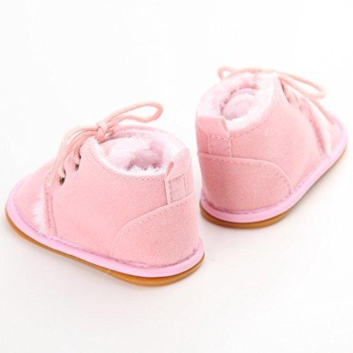 Just Easy patucos lernschuhe unidad Invierno Joven Bebé Niña negro negro Talla:11 cm Rosa