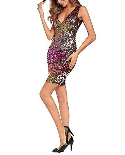 xl Senza Abito large Dimensione Paillettes X B Donna Maniche Yingsssq Sexy Con Abiti C Da Paillettes colore PCqwWWtSR4