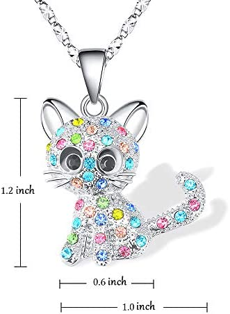 moon glow in the night cat jewelry cat lover gift Kawaii Cute Cat necklace