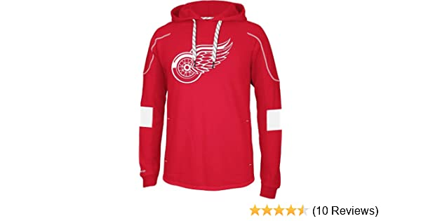 12a1cb5331f Amazon.com   NHL Detroit Red Wings Men s Edge Team Hooded Jersey   Sports  Fan Jerseys   Clothing