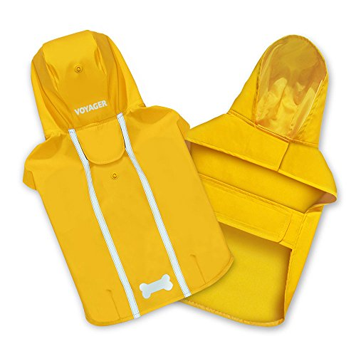 Best Pet Supplies - Voyager Waterproof Dogs Rain Poncho, Yellow, Large -