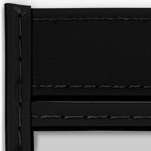 StoreSMART - 11'' x 14'' - Open Short - Black Rigid Vinyl Sewn Pocket - 5-Pack - Dry Erase Surface -T85207S-BK-5