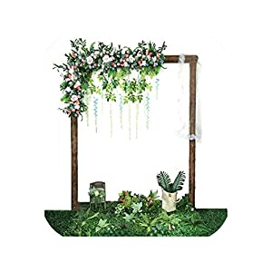 Maja Shop-Artificial Flower Row Luxurious Wedding Decor Rose Flower Row Silk Road Cited Flowers Arched DIY Background Flower Wall 120