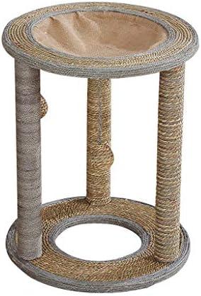 猫の木の塔、プレミアム編みサイザル柱スクラッチコレクション、猫の巣とぶら下がっているボール (Size : 55x51cm)