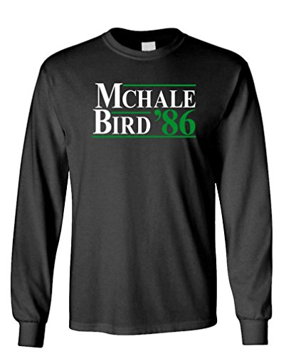 McHale Bird 86 - Basketball Larry Kevin 1986 - Long Sleeved Tee, XL, Black