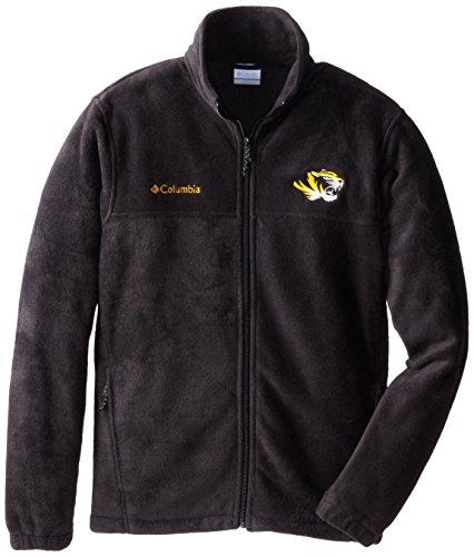 NCAA Missouri Tigers Men's Collegiate Flanker II Full Zip Fleece Sweater, Black, (Mens Flanker Full Zip Fleece)