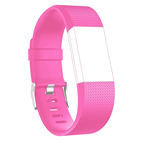 RedTaro Replacement Elastomer Wristband for Fitbit Charge 2, Small -Inches, 105 - Pink
