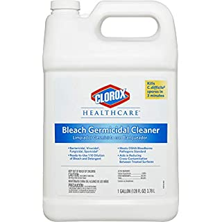 Clorox Healthcare Bleach Germicidal Cleaner Refill, 128 Ounces