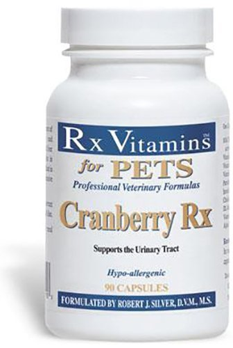 (3 PACK) CRANBERRY RX URINARY TRACT SUPPORT 90 CAPSULES EACH X 3 BOTTLES by Rx Vitamins For Pets