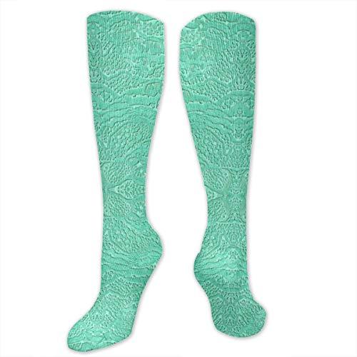 - Yitlon8 Encrusted Seafoam Compression Socks for Women & Men - Best for Running, Athletic Sports, Crossfit, Flight Travel -Maternity Pregnancy, Shin Splints - Below Knee High