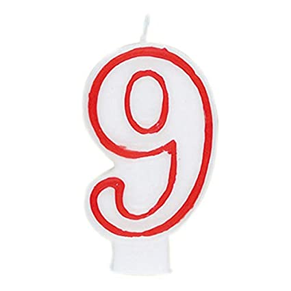 Amazon Number 9 Birthday Candle Candles Kitchen Dining