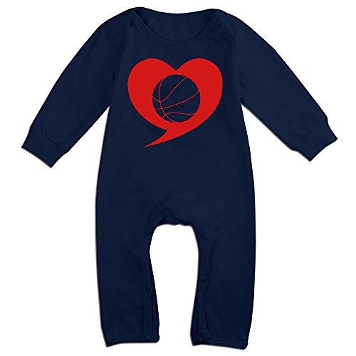 ALIPAPA Boy's & Girl's I Love Basketball Tshirt Navy Size 12 Months