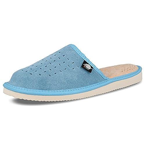 Ecoslippers Suede Touch Green, Sandales Compensées Femme - Bleu - Bleu, 38 2/3
