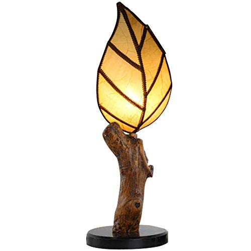 Leaf Lighting Table Lamp, Bar Restaurant Clubhouse Tea Room Bedside Lamp, Chinese Imitation Tree Root Lamp
