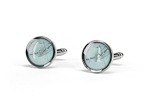 1949 Key West map cufflinks ro